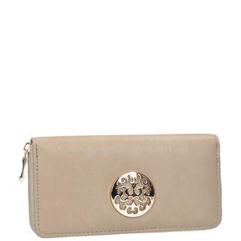 Elegantná peňaženka s ozdobou bata, béžová, 941-8150 - 13