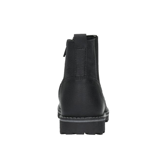 Detská kožená obuv nad členky mini-b, čierna, 394-6316 - 17