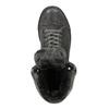 Kožené členkové tenisky s kožúškom bata, šedá, 593-2601 - 19
