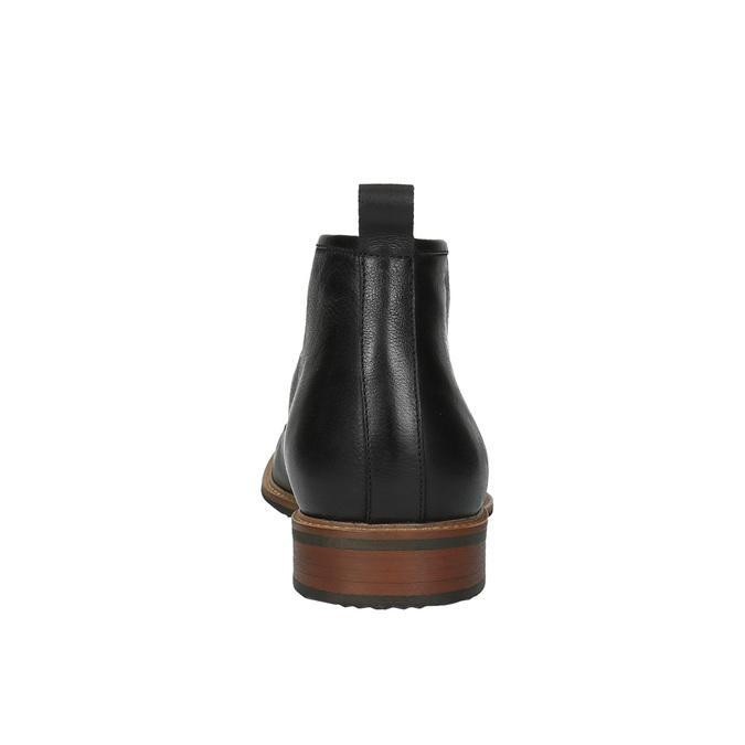 Kožená členková obuv bata, čierna, 894-6665 - 17