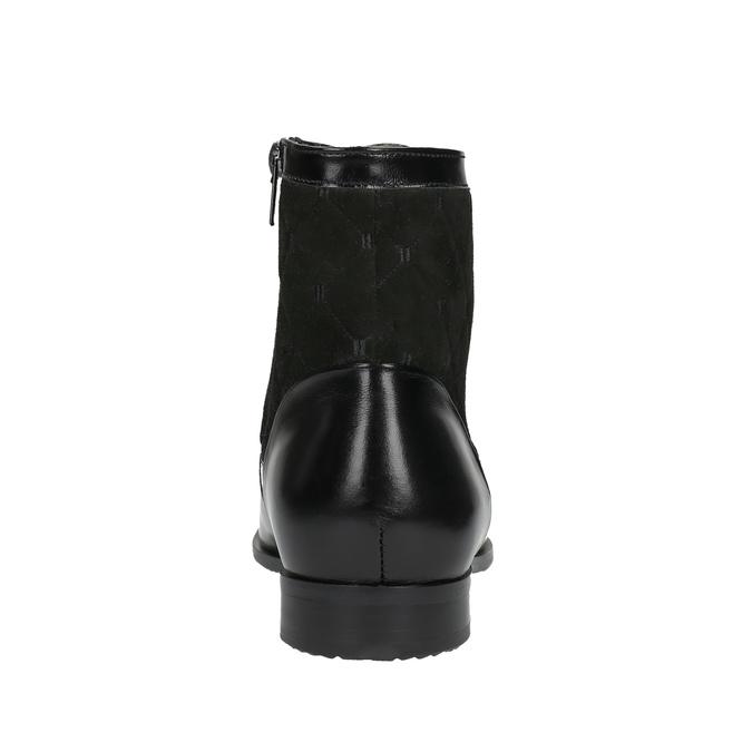 Kožená členková obuv so zateplením conhpol, čierna, 894-6677 - 17