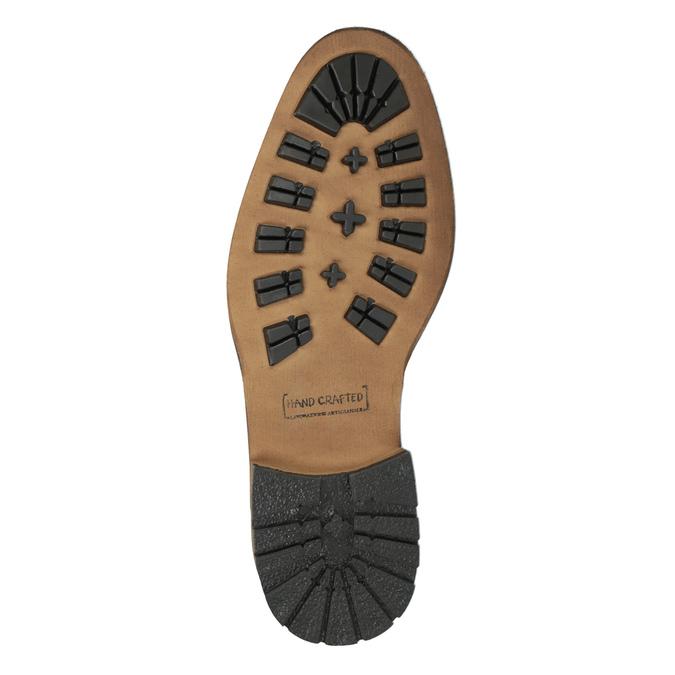 Kožená členková obuv pánska bata, čierna, 894-6660 - 26