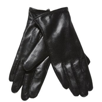 Dámske kožené rukavice s perforáciou bata, čierna, 904-6114 - 13