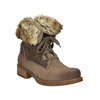 Dámska zimná obuv s kožúškom bata, hnedá, 591-3605 - 13