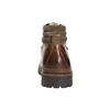 Kožená obuv s originálnym šnurovaním bata, hnedá, 894-4180 - 17