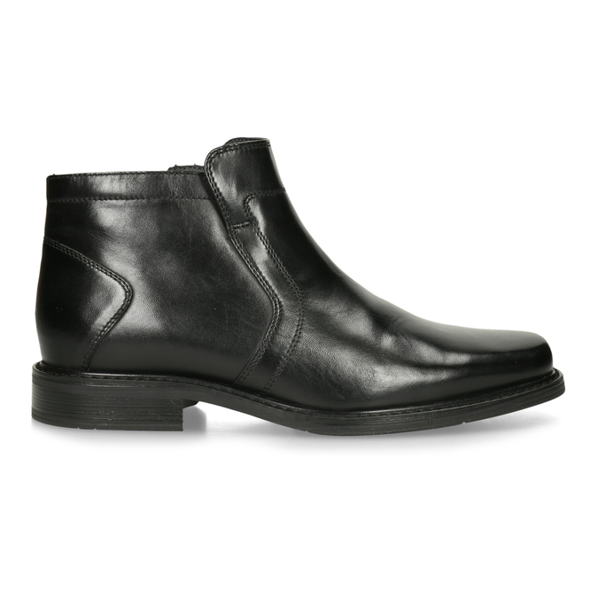 Kožená členková obuv so zateplením bata, čierna, 894-6641 - 19