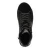 Kožené členkové tenisky so stríebornými odleskami bata, čierna, 596-6613 - 19