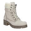 Kožená zimná obuv s kožúškom bata, béžová, 696-3336 - 13