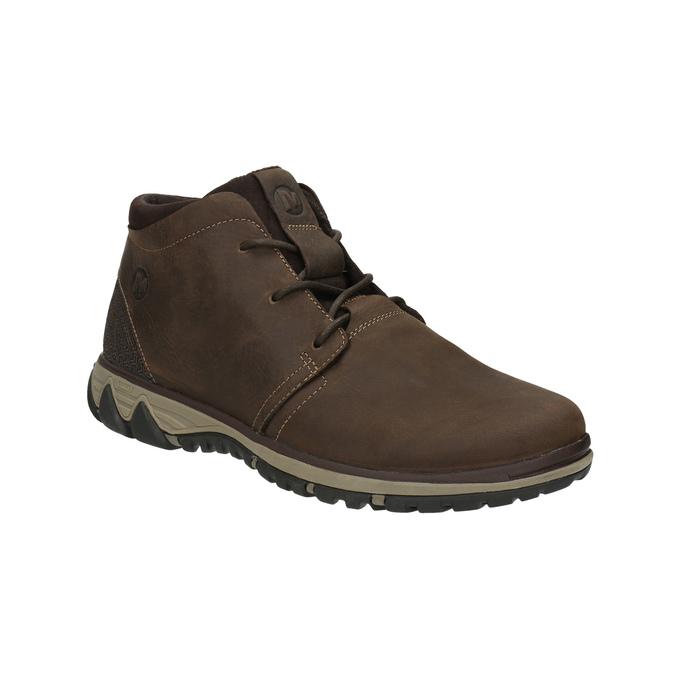 Pánska kožená členková obuv merrell, hnedá, 806-4842 - 13