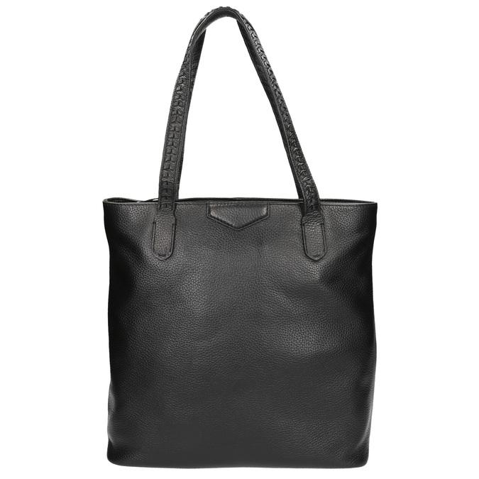 Čierna kožená kabelka bata, čierna, 964-6213 - 26