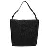 Kožená kabelka v Hobo štýle bata, čierna, 964-6216 - 19