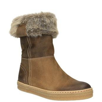 Kožená zimná obuv s kožúškom weinbrenner, hnedá, 596-4633 - 13