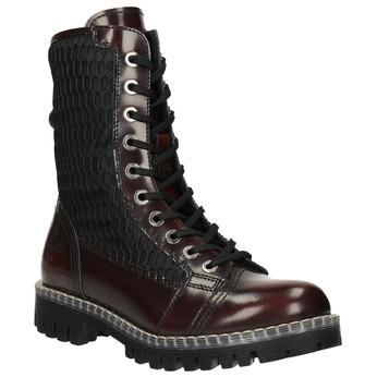 Kožená šnurovacia obuv na výraznej podrážke weinbrenner, červená, 596-5635 - 13