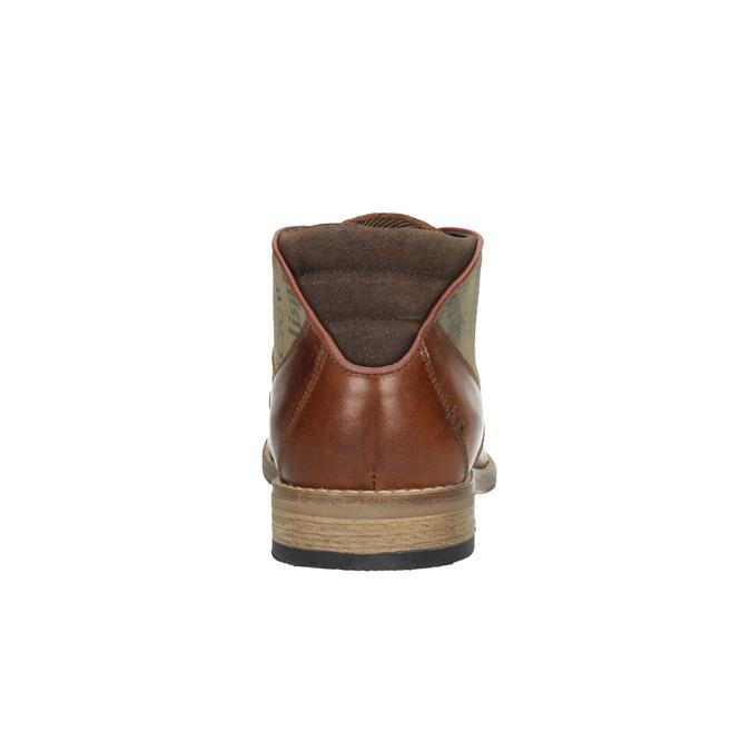 Hnedé kožené poltopánky bata, hnedá, 826-3735 - 17