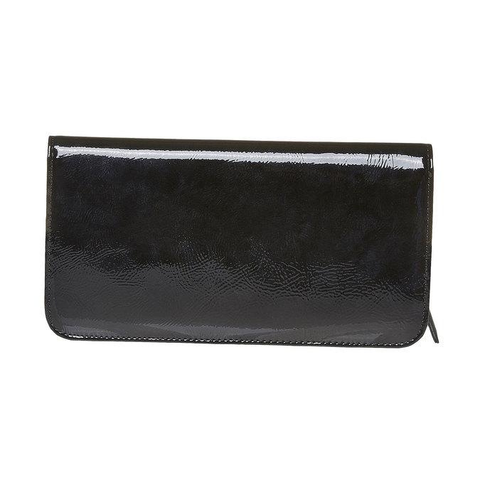 Dámska lakovaná peňaženka bata, čierna, 941-6144 - 26