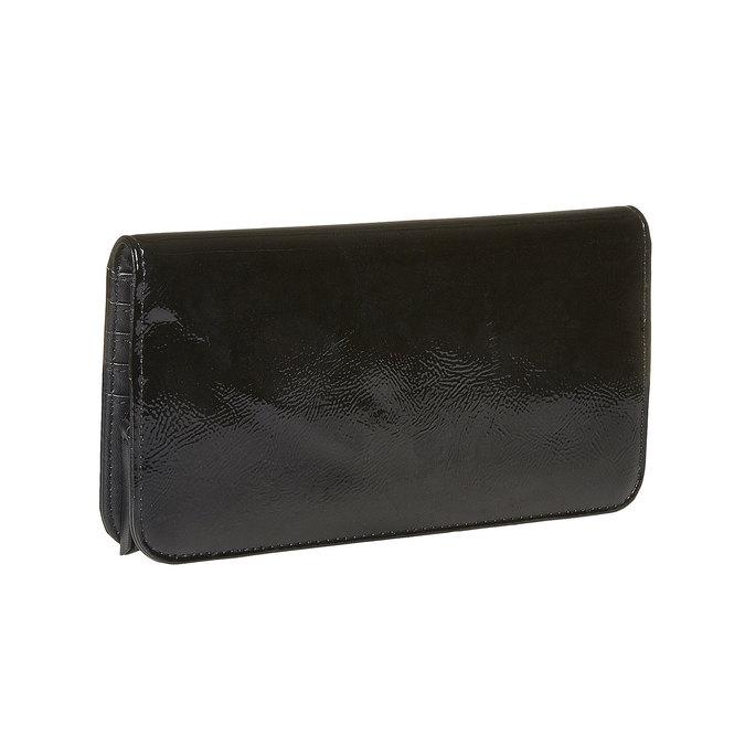 Dámska lakovaná peňaženka bata, čierna, 941-6144 - 13