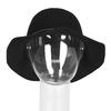 Dámsky klobúk s prešitím bata, čierna, 909-6294 - 16