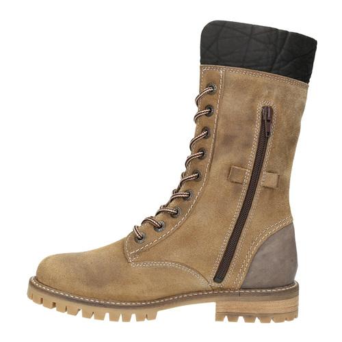Dámska zimná obuv s kožúškom weinbrenner, hnedá, 593-8476 - 19