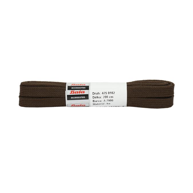 Široké hnedé šnúrky bata, hnedá, 901-4401 - 13