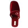 Dámska domáca obuv na klínovom podpätku bata, červená, 679-5607 - 19