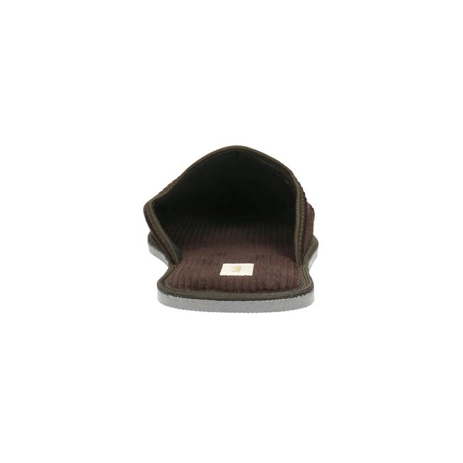 Pánska domáca obuv s plnou špicou bata, hnedá, 879-4609 - 17