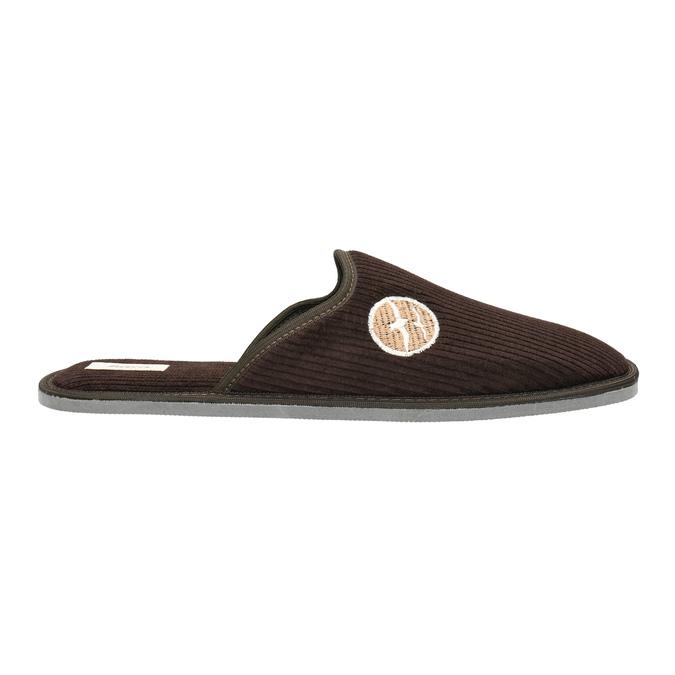 Pánska domáca obuv s plnou špicou bata, hnedá, 879-4609 - 15