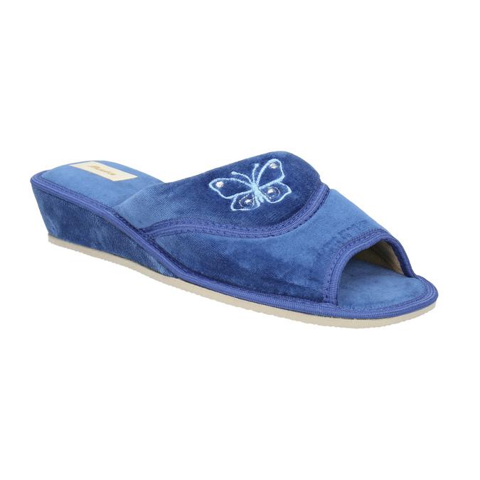 Dámska domáca obuv bata, modrá, 679-9606 - 13