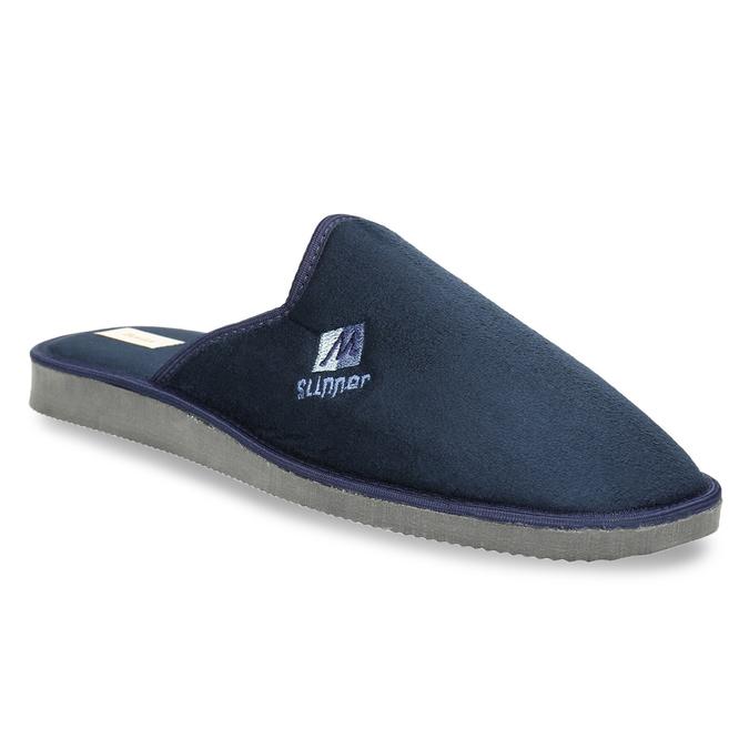 Pánska domáca obuv s plnou špicou bata, modrá, 879-9605 - 13