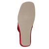 Dámska domáca obuv na klínovom podpätku bata, červená, 679-5607 - 26