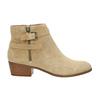 Dámska členková obuv z brúsenej kože bata, béžová, 693-1600 - 15