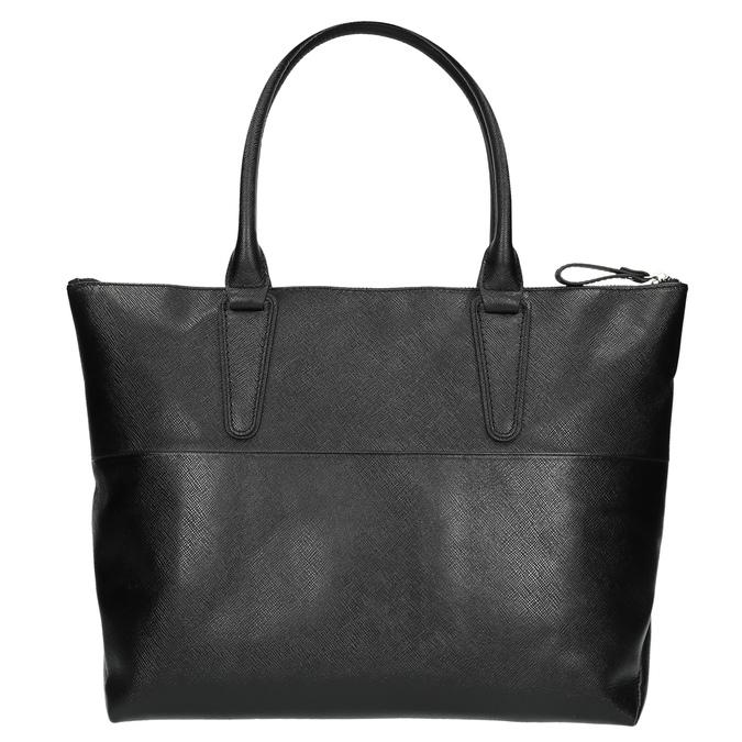 Čierna kožená kabelka bata, čierna, 966-6201 - 26