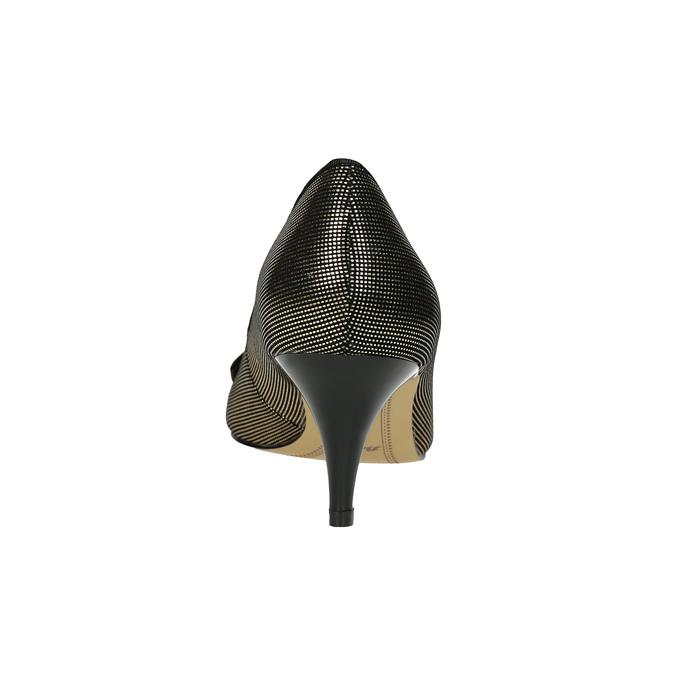 Lodičky s mašľou bata, čierna, zlatá, 629-8630 - 17