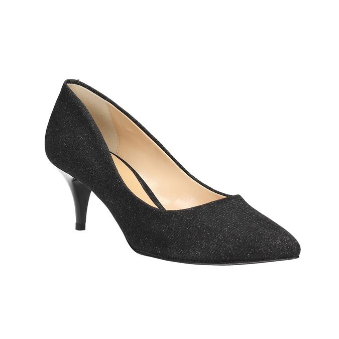 Elegantné lodičky na nízkom podpätku bata, čierna, 629-6631 - 13