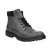 Kožené členkové topánky na výraznej podrážke weinbrenner, šedá, 896-2110 - 13