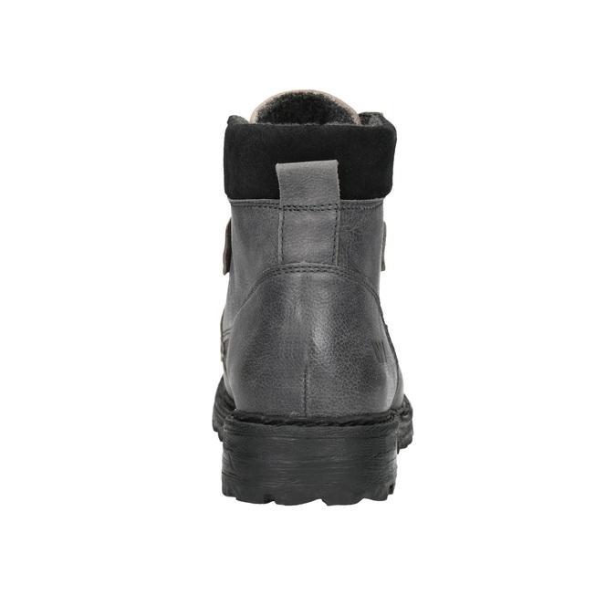 Kožené členkové topánky na výraznej podrážke weinbrenner, šedá, 896-2110 - 17