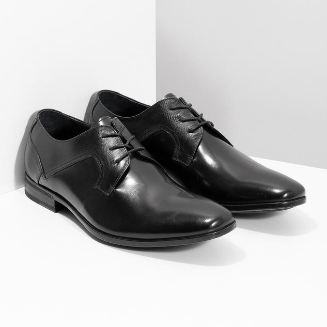 Kožené čierne pánske poltopánky bata, čierna, 824-6758 - 26