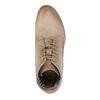 Kožená členková obuv s perforovaným vzorom bata, hnedá, 596-4646 - 19