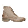 Kožená členková obuv s perforovaným vzorom bata, hnedá, 596-4646 - 15