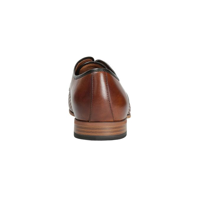 Kožené poltopánky so vzorom bata, hnedá, 826-3813 - 17