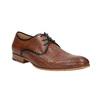 Kožené poltopánky so vzorom bata, hnedá, 826-3813 - 13