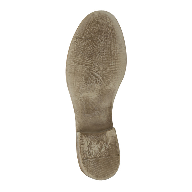 Kožená členková obuv s perforovaným vzorom bata, hnedá, 596-4646 - 26