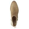 Kožené členkové čižmy s pružnými bokmi bata, béžová, 596-4652 - 19