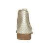 Kožené členkové čižmy s pružnými bokmi bata, béžová, 596-4652 - 17