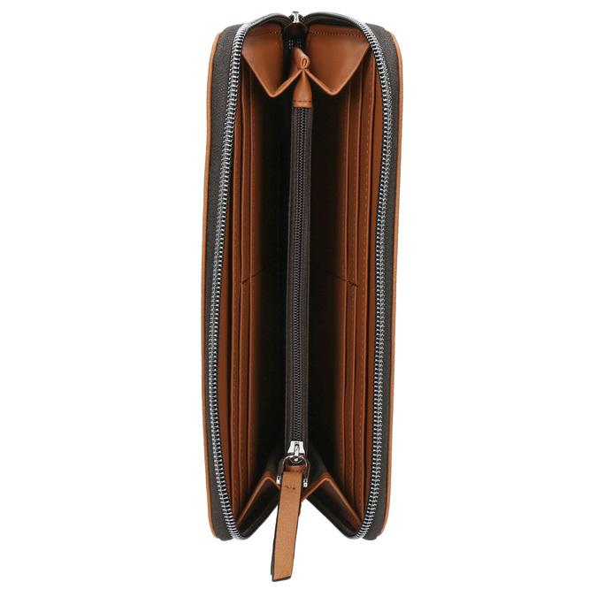 Hnedá peňaženka s perforáciou bata, hnedá, 941-3154 - 15
