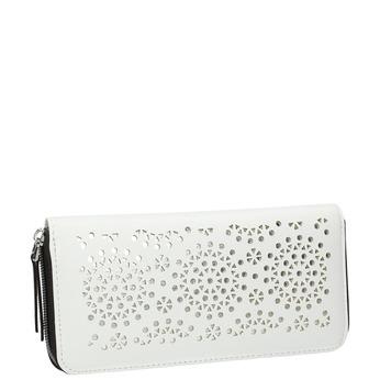 Dámska peňaženka s perforáciou bata, biela, 941-1154 - 13