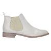 Kožené Chelsea topánky s perforáciou bata, biela, 596-1651 - 15