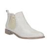 Kožené Chelsea topánky s perforáciou bata, biela, 596-1651 - 13