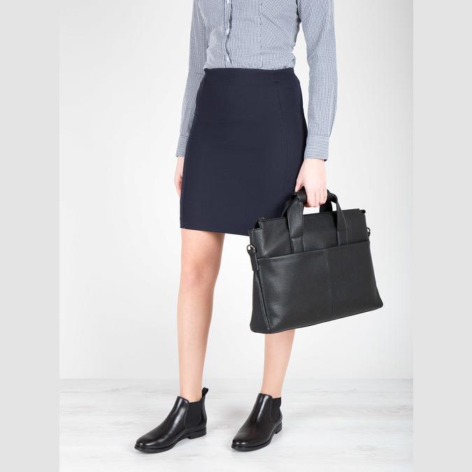 Kožená členková obuv Chelsea bata, čierna, 594-6604 - 18