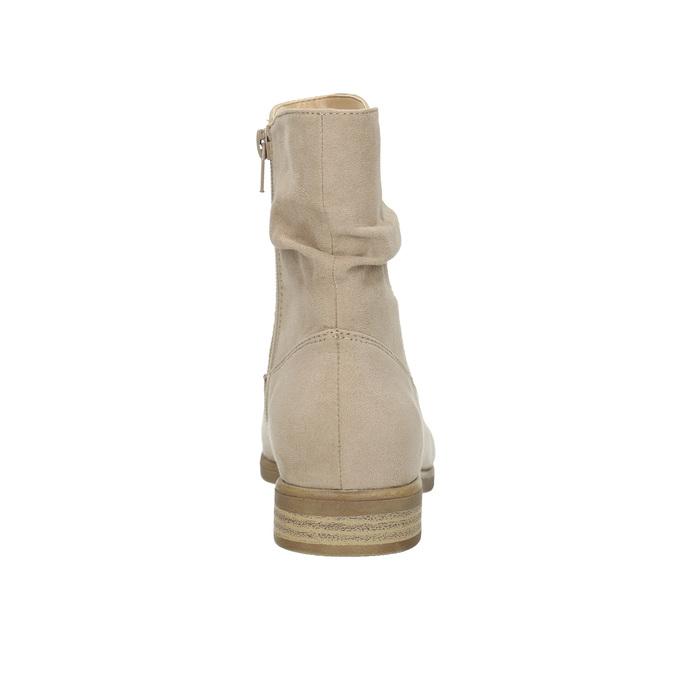 Dámske členkové čižmy bata, béžová, 599-8614 - 17