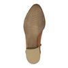 Kožené členkové čižmy s perforáciou bata, hnedá, 596-4647 - 26